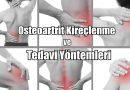 Osteoartrit Kireçlenme ve Tedavisi